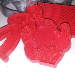 Vintage Lot 3 tupperware plastic Cookie cutters